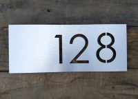 modern house numbers plaque