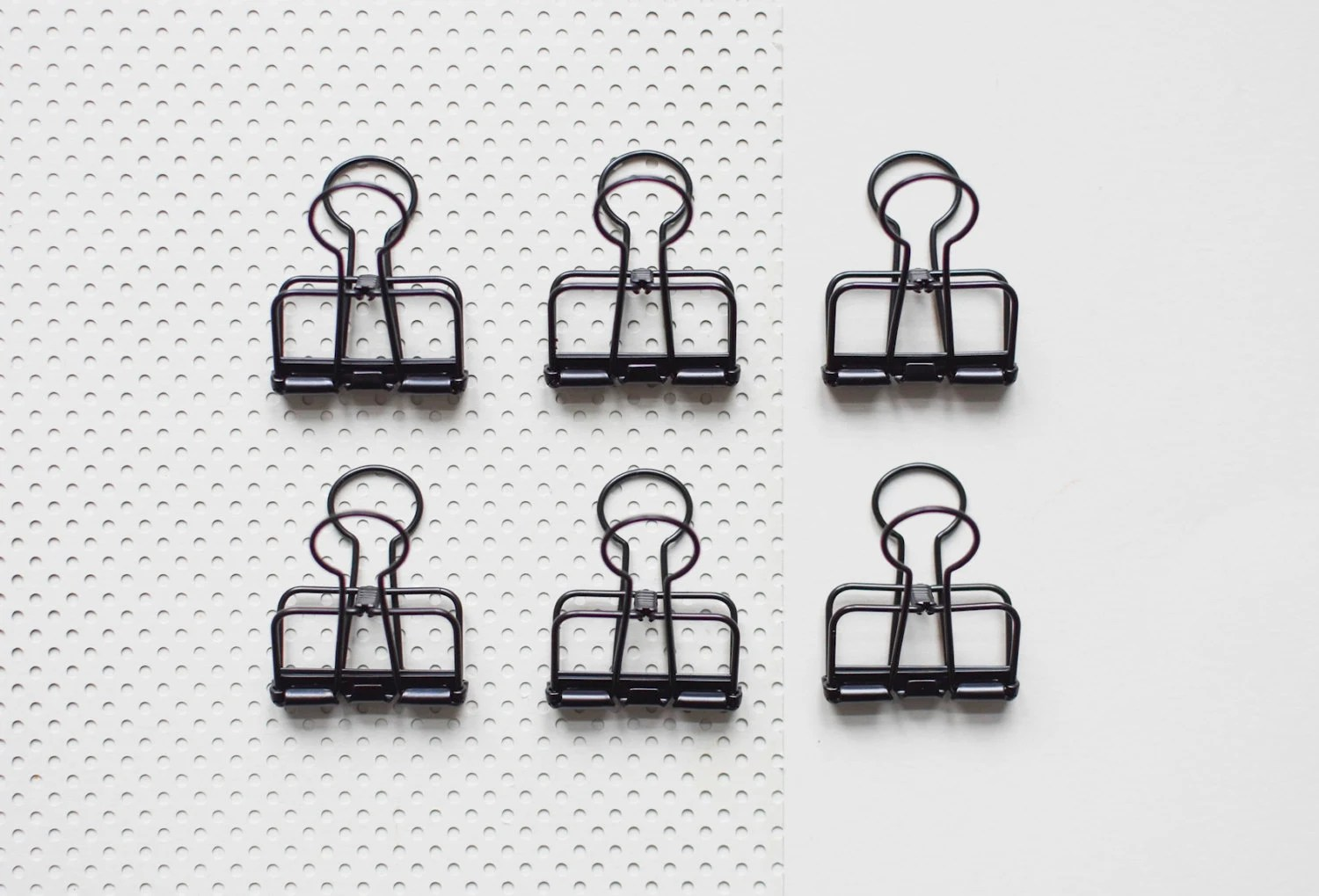6 Black Bulldog Wire Clips Foldback Clips Metal Clips gold