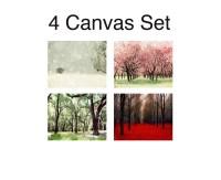 SALE 4 Seasons Wall Art Canvas Wall Art Four Seasons Art