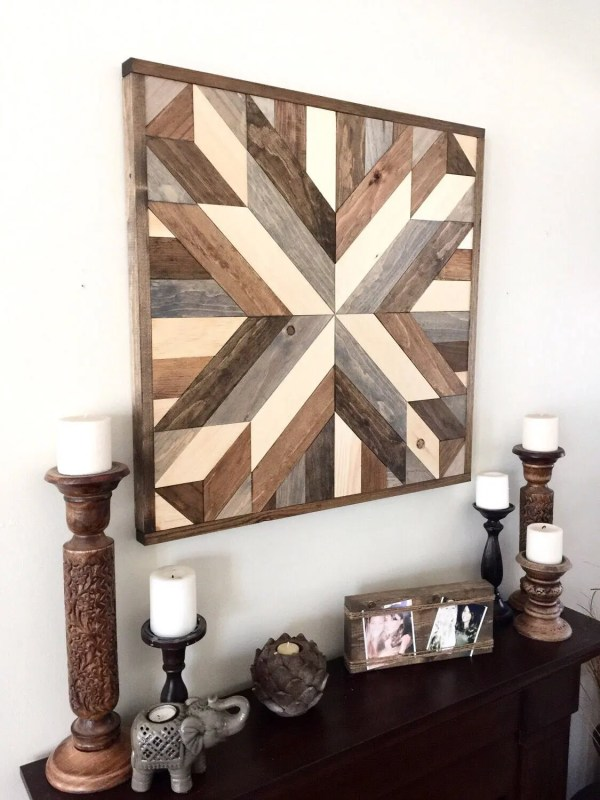 Reclaimed Wood Wall Art Rustic Decor