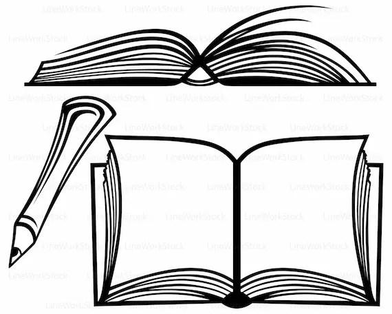 Open book svg,book clipart,book svg,open book silhouette