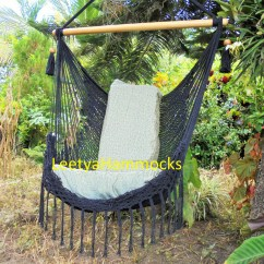 Macrame Hammock Chair Wooden Rocking Styles Black By Leetyahammocks