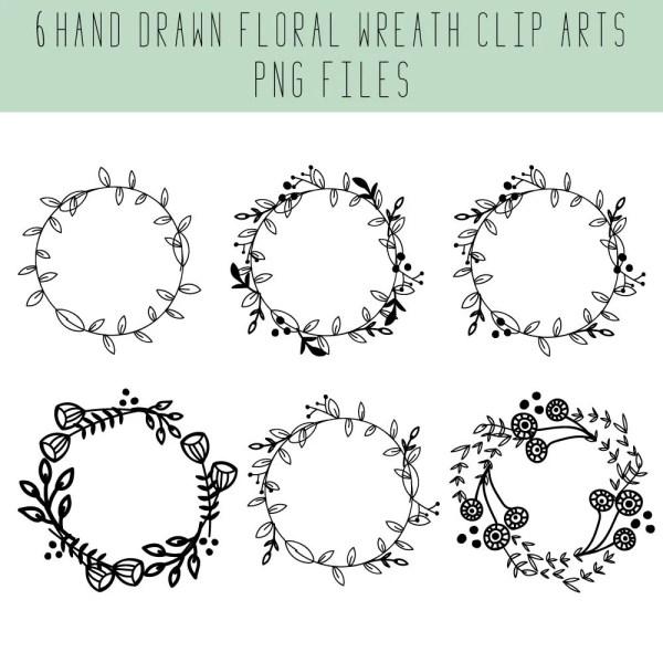 Wreath Clip Art Floral Wedding