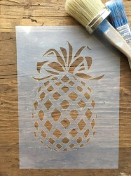 pineapple stencil decal wall tropical fruit