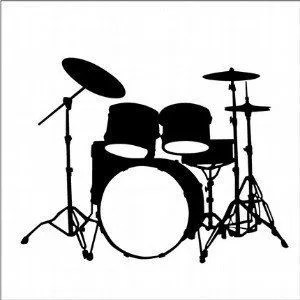 Drums Art Print Abstract Watercolor Painting Drum Set
