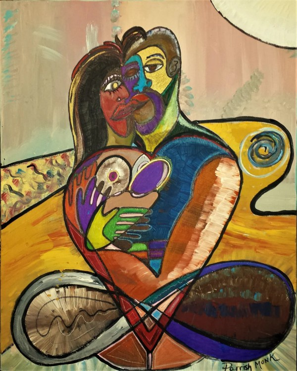 Contemporary Modern Cubism Art Intertwined