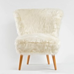 Faux Fur Chair Cover Tall Folding Chairs Camping White Coctail