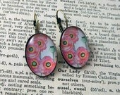 Pretty Poppies earrings -...