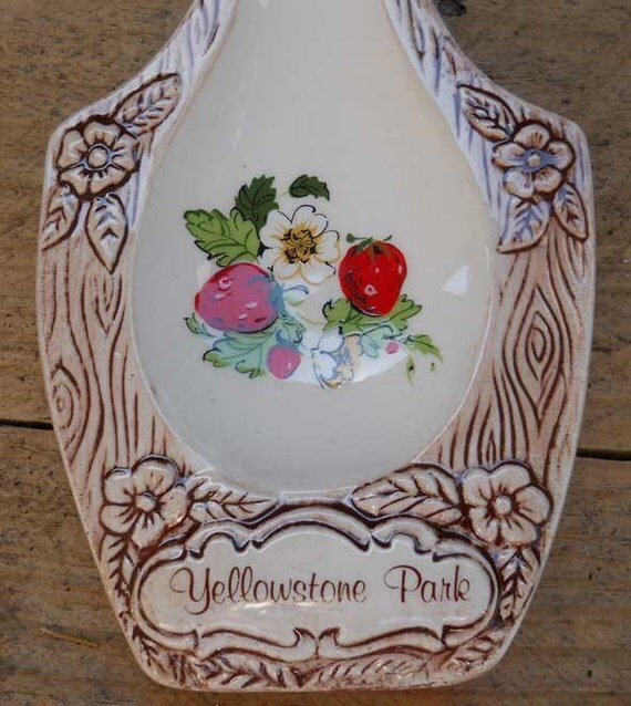 Yellowstone Park Spoon Rest Souvenir Vintage