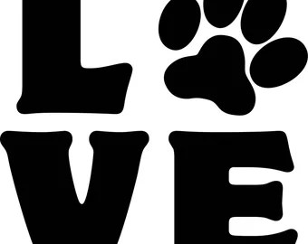Download Paw print clip art | Etsy