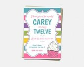 Cupcake Party Invitations...