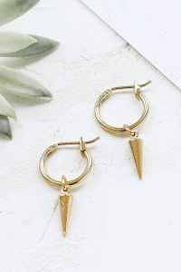 Eddie Earrings Small Hoop Earrings Spike Hoop Earrings