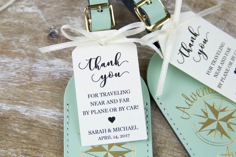 Thank You Tag Wedding Favor Tag Luggage Favor Tag
