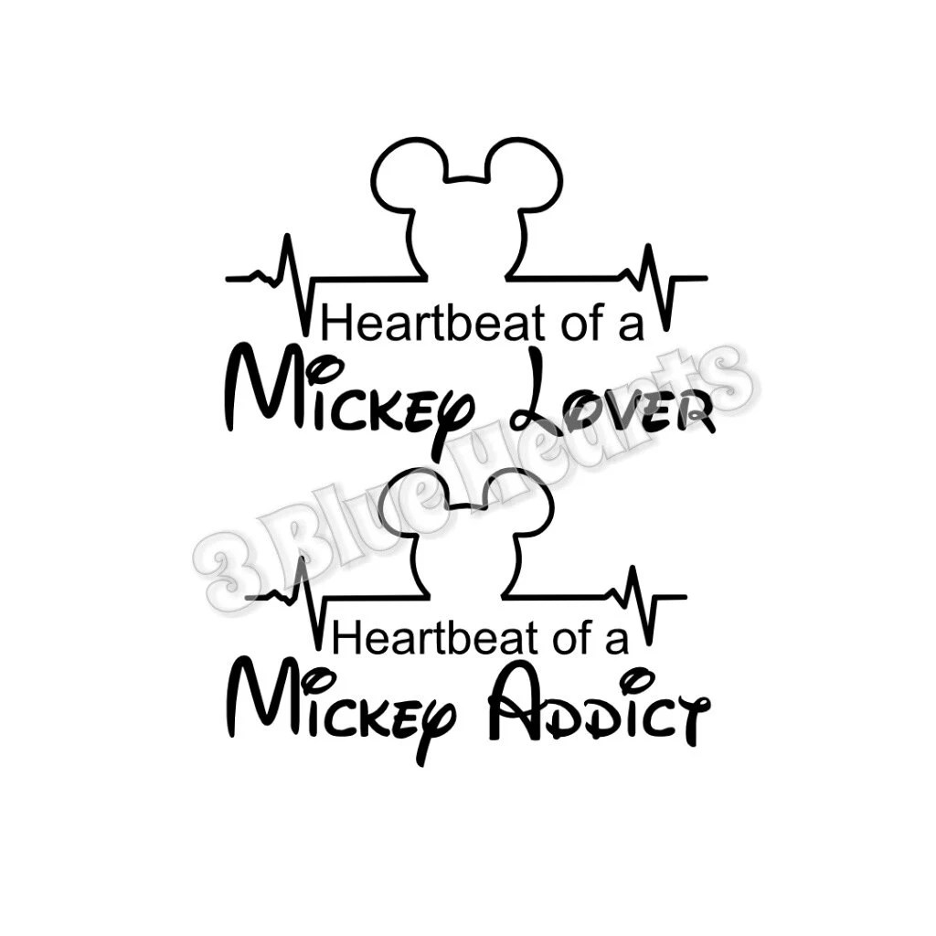 Heartbeat Of A Mickey Lover Svg Dxf Studio Heartbeat Of A