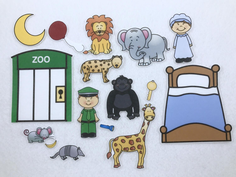 Gorilla And Zoo Friends Goodnight Felt Board Story Speech