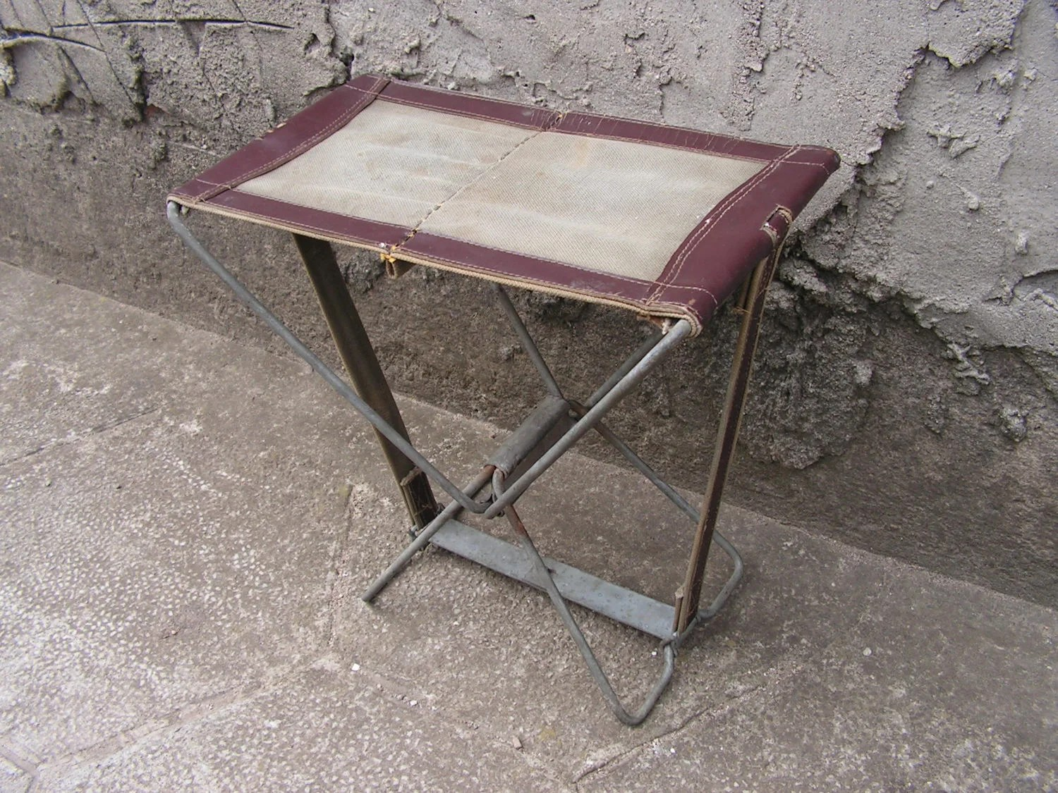 fishing chair small designboom vintage folding stool camping