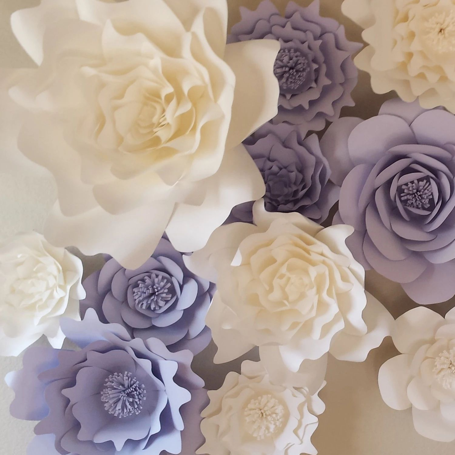 giant paper flower wall