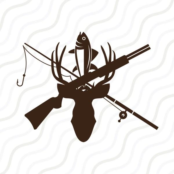 hunting and fishing svg