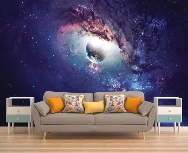 Galaxy Mural Space Wallpaper Outer Wall Stars