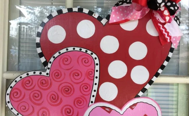 Valentine Door Hanger Valentine Door Decor Front Door Decor