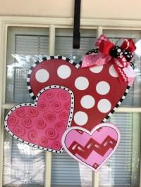 Valentine door hanger Valentine door decor front door decor