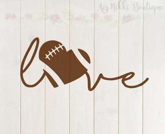 Download Football Love football heart sports SVG PNG DXF files