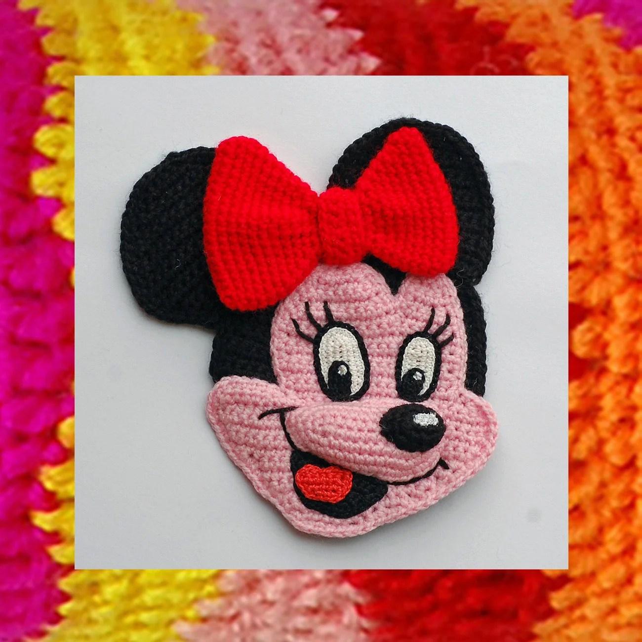 Crochet Pattern Applique Charming Mouse