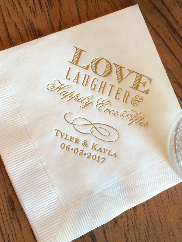 Personalized Wedding Napkins Personalized Napkins Bridal