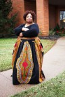 Authentic Dashiki Size African Maxi Skirt