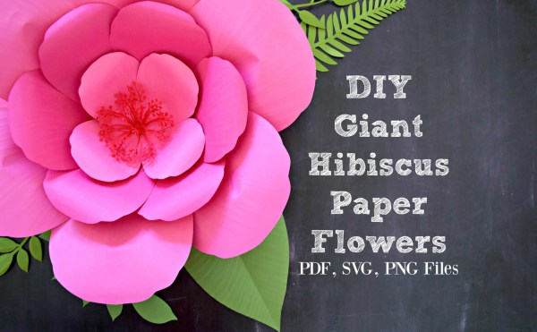 Giant Paper Flower Template Printable