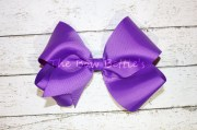 large purple hair bow classic