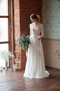 Lace wedding dress GLORIA / Long sleeves wedding dress