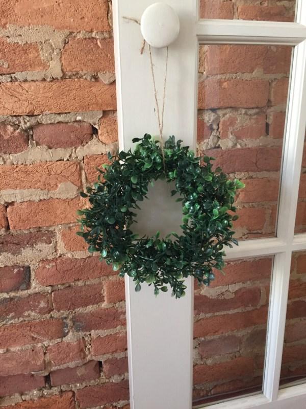 8 Faux Boxwood Wreath