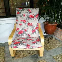 Poang Chair Covers Adams Adirondack Stacking In Banana Ikea Cushion Cover Floral Print