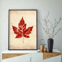 Vintage Red Maple Leaf Maple Leaf Wall Decor Fall Wall