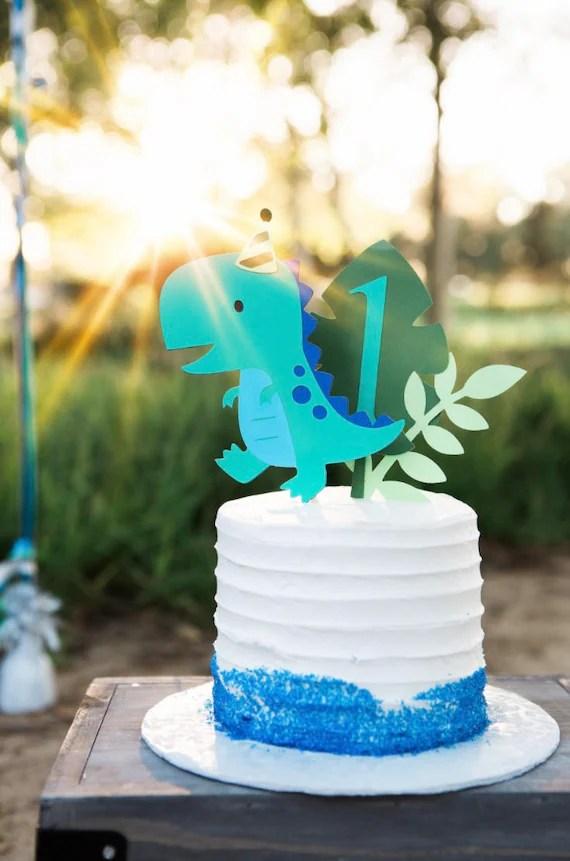 Dinosaur Cake Topper Smash Cake First Birthday