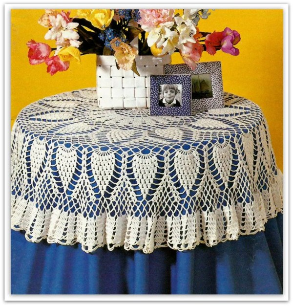 Crochet Pineapple Tablecloth Pattern Pdf 07041209