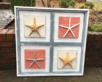 Starfish Wall Art Extra Large Picture Shadow Box Beach House