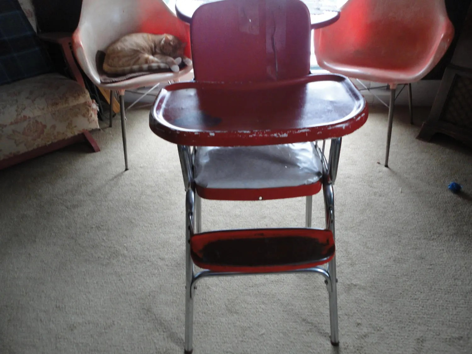 Red High Chair Cosco Baby High Chair Hamilton Indiana Usa Made Red Vinyl