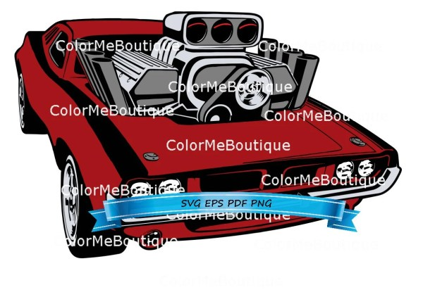 197039s Dodge Challenger CLIPART from ColorMeBoutique on