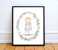 Alice in wonderland wall art nursery print princess nursery