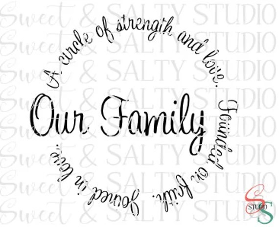 Download our family a circle of strength and love digital file from ...