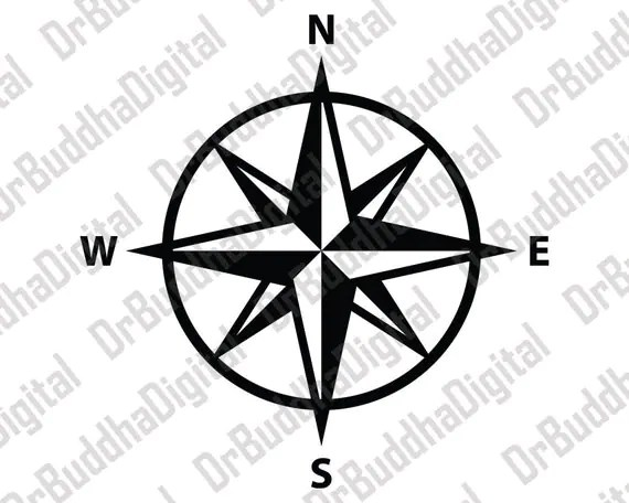 Holiday Sale Compass Rose SVG Collection Compass DXF