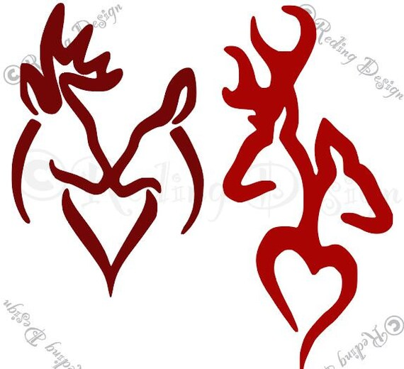 Download Buck and Doe Heart SVG