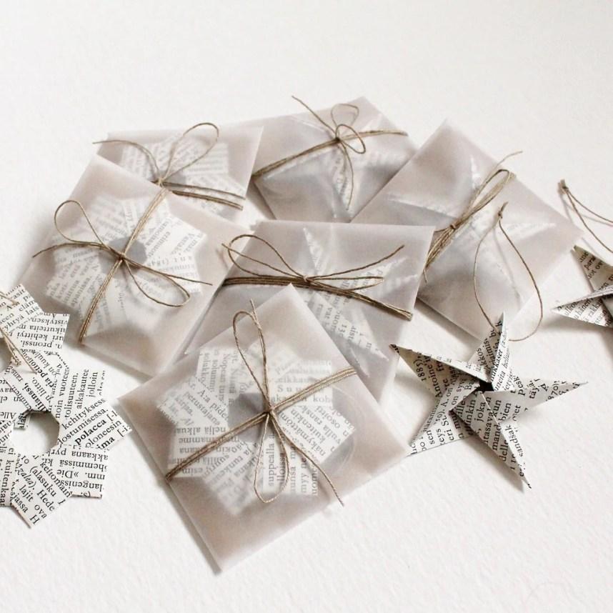 Origami Star Ornament Set...