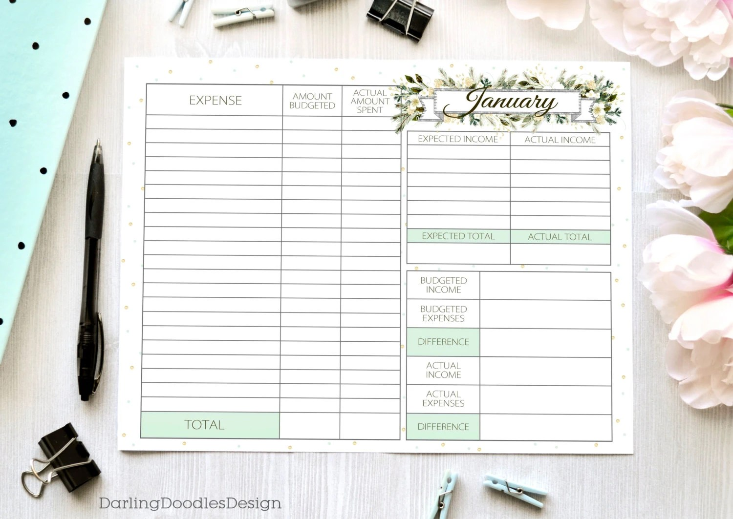 Set Of 12 Budget Worksheets Printable Budget Worksheet