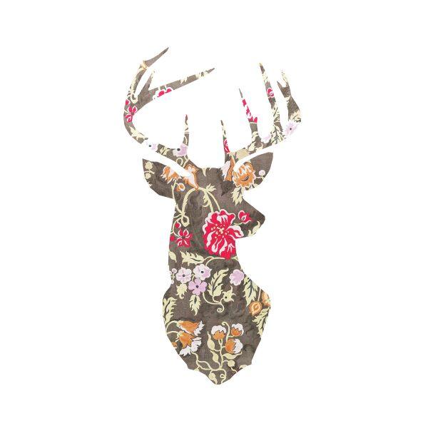 Decorative Deer Head Silhouette