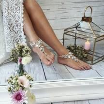 Barefoot Sandalsbeach Wedding Boho Ankletbridal Swarovski
