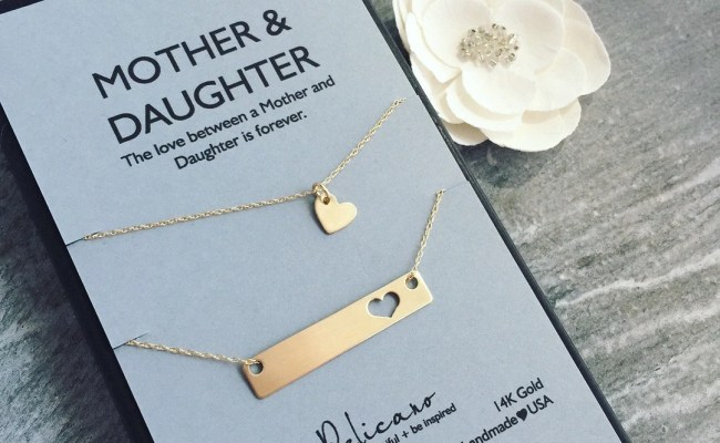 Mother Daughter Jewelry Set Gift For Wife Birthday Gift Mother