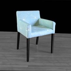 Light Blue Chair Covers High Back Executive Office Pair Custom Ikea Nils Slip Cover Sparks